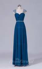 A-line Aegean Chiffon Floor-length Prom Dress(PRBD04-S499)