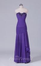 Trumpet/Mermaid Purple Crushed Chiffon Floor-length Prom Dress(PRBD04-S523)