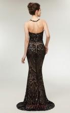 Mermaid Black Sequined Illusion Long Prom Dresses XH-C0014