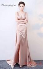 Evening Split V-neck Clubwear Dress Car Show Models BX-G653