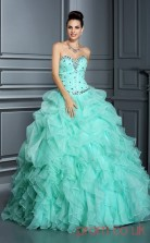 Cran Organza Sweetheart Floor-length Ball Gown Quincenera Dress(JT2006)