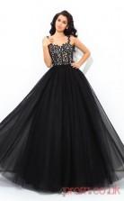 Black Lace Tulle Straps Floor-length Princess Quincenera Dress(JT2031)