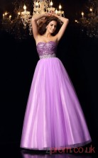 Lilac Organza Sweetheart Floor-length Princess Quincenera Dress(JT2046)
