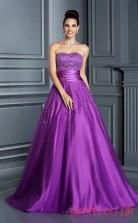 Purple Organza Sweetheart Floor-length Princess Quincenera Dress(JT2049)