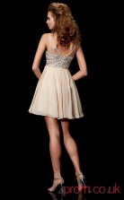 Champagne Chiffon A-line Short Illusion Graduation Dress(JT2110)