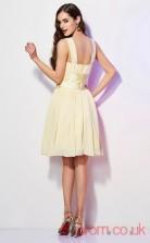 Light Champange Chiffon A-line Short Square Graduation Dress(JT2132)