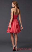 Watermelon Chiffon A-line Short Sweetheart Graduation Dress(JT2142)