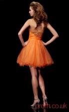 Orange Tulle A-line Short Sweetheart Graduation Dress(JT2184)