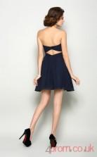 Navy Blue Tulle A-line Short Sweetheart Graduation Dress(JT2212)