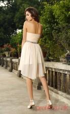 Beige Tulle A-line Short Sweetheart Graduation Dress(JT2218)
