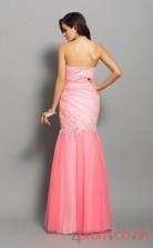 Pink Sequined Chiffon Trumpet/Mermaid Floor-length Sweetheart Graduation Dress(JT2219)