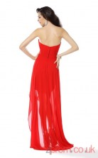 Tomato Lace Sheath Watteau Train Sweetheart Graduation Dress(JT2221)