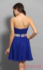 Royal Blue Chiffon A-line Mini Sweetheart Graduation Dress(JT2275)