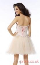 Ivory Tulle A-line Mini Sweetheart Graduation Dress(JT2283)