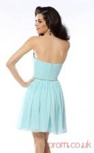 Sky Blue Chiffon A-line Mini Sweetheart Graduation Dress(JT2295)
