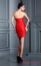 Red Spendex Sheath Mini Sweetheart Graduation Dress(JT2329)