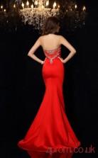 Bright Red Spendex Trumpet/Mermaid Floor-length Sweetheart Graduation Dress(JT2331)