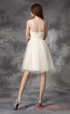 Ivory Tulle A-line Mini Sweetheart Graduation Dress(JT2411)