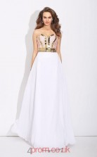 White Chiffon Sweetheart Floor-length A-line Prom Dress(JT2520)