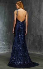 Trumpet/Mermaid Sequined Royal Blue Straps Long Formal Prom Dress(JT2602)
