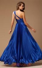 Blue Charmeuse A-line One Shoulder Floor-length Evening Dresses(JT2710)