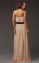 Light Champange Chiffon A-line Halter Floor-length Prom Formal Dresses(JT2712)