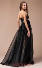 Black Organza A-line Sweetheart Floor-length Evening Dresses(JT2713)
