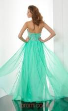 Cyan Chiffon A-line Halter Floor-length Evening Dresses(JT2718)