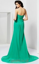 Jade Chiffon Sheath/Column Sweetheart Floor-length With Split Front Prom Formal Dresses(JT2734)