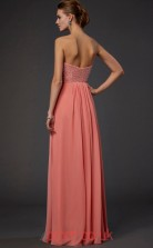 Pink Chiffon A-line Sweetheart Floor-length Evening Dresses(JT2774)