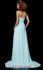 Sky Blue Chiffon Sheath/Column Sweetheart Floor-length Evening Dresses(JT2778)