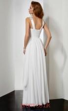 Ivory Chiffon A-line v-neck Floor-length Prom Formal Dresses(JT2782)