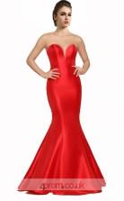Ruby Satin Mermaid Sweetheart Long Prom Dress(JT3552)