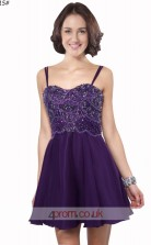 Regency Chiffon A-line Straps Mini Prom Dress(JT3638)
