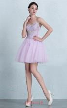 Lilac Lace Tulle A-line Off The Shoulder Short/Mini Prom Dress(JT3675)