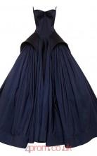 Navy Blue Taffeta Ball Gown Sweetheart Floor-length Graduation Dresses(JT3875)