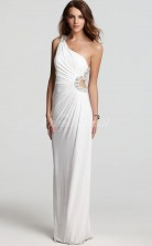 Chiffon One Shoulder Sheath Long Prom Dress(PRJT04-0937)