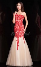 Tulle And Lace One Shoulder Mermaid Prom Dress(PRJT04-0940)