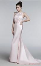 Blushing Pink Satin Trumpet/Mermaid Bateau Sleeveless Prom Dresses(JT4-3007)
