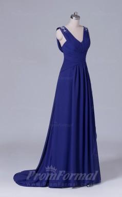 A-line Regency Chiffon Floor-length Prom Dress(PRBD04-S458)