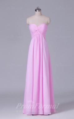A-line Peach Chiffon Floor-length Prom Dress(PRBD04-S465)