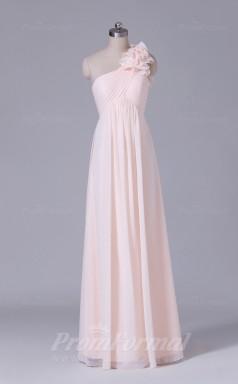 A-line Light Ivory Chiffon Floor-length Prom Dress(PRBD04-S474)