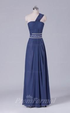 A-line Gray Chiffon Floor-length Prom Dress(PRBD04-S492)