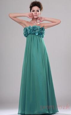 Jade 100D Chiffon A-line Strapless Long Evening Dress-(BD04-444)