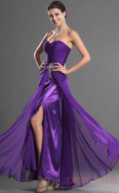 Regency 100D Chiffon Trumpet/Mermaid Strapless Sweetheart Floor-length Prom Dress(BD04-510)