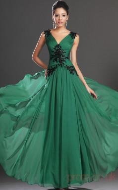 Jade 100D Chiffon A-line V-neck Floor-length Prom Dress(BD04-519)