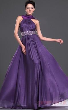 Regency Organza A-line Halter Floor-length Prom Dress(BD04-530)