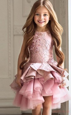 A-line Sleeveless Kids Prom Dress for Girls CH0110