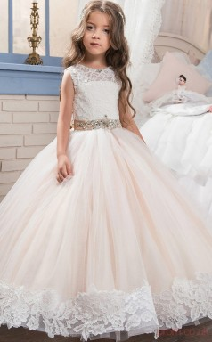 Ball Gown Sleeveless Kids Prom Dress for Girls CH0122