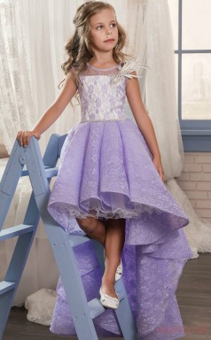 A-line Sleeveless Kids Prom Dress for Girls With Appliques CH0133